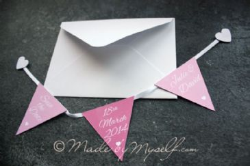 Bunting Save The Date - Magnetic